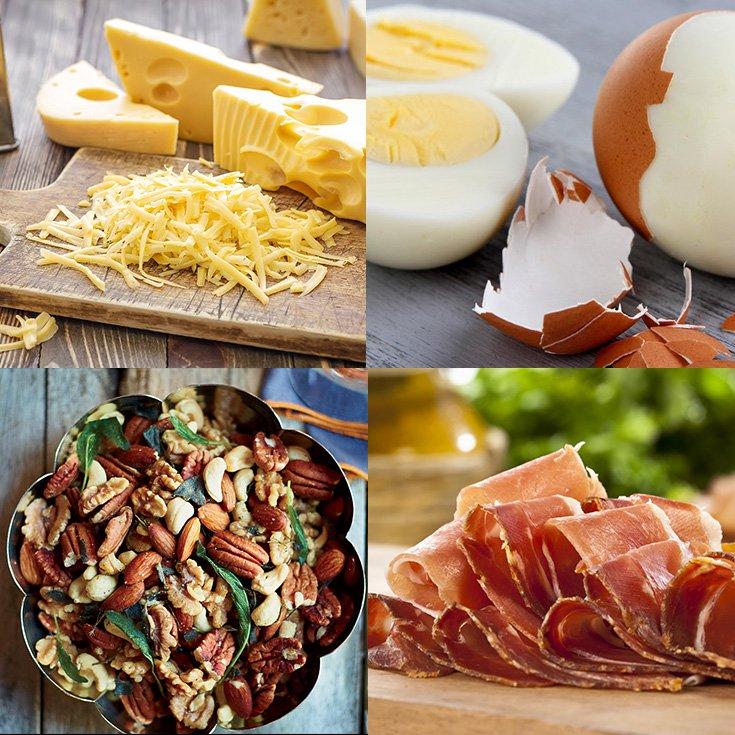 alimentos de aperitivo de la dieta cetogenica