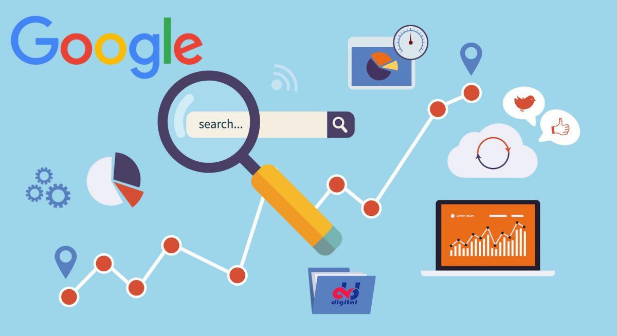 ilustração lupa mostrando pesquisa no site google